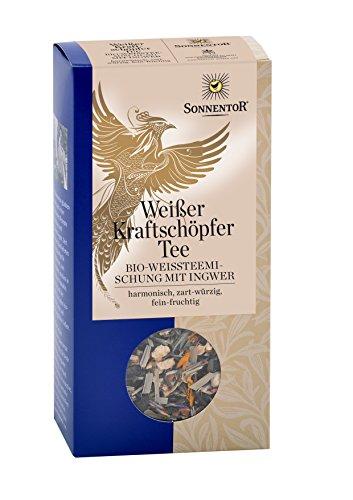 Sonnentor Weißer Kraftschöpfer-Tee lose, 1er Pack (1 x 70 g) – Bio
