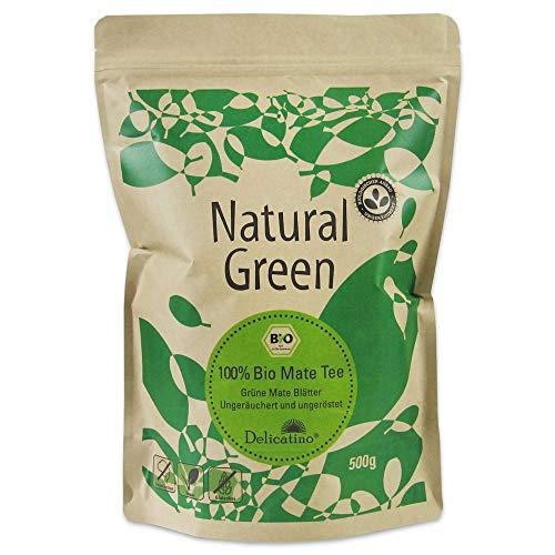 Bio Mate Tee Delicatino Premium – Natural Green – 500g (natürlich und ungeräuchert)