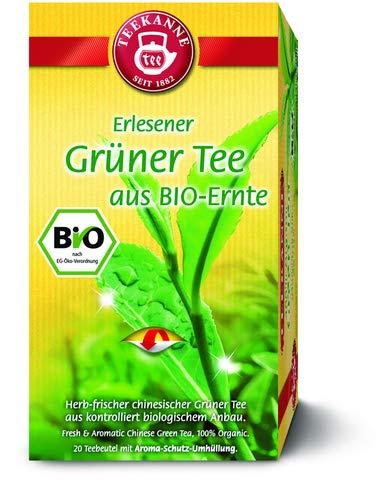 TEEKANNE Grüner Tee BIO, Beutel aromaversiegelt, 20 Beutel á 1,75 g, Sie erhalten 1 Packung