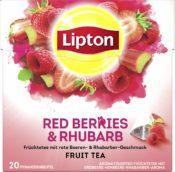 Lipton Früchtetee Erdbeere Himbeere Rhababer