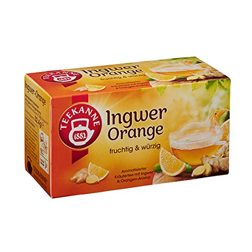 Teekanne Grüner Tee Ingwer Orange