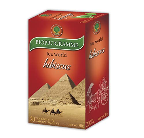 (5 Pack) Hibiskus tee Kräutertee | Bioprogramm für Kuker | Premium Hibiskus Tee | Hibiscus Unterblutdruck Beutel 20 Beutel