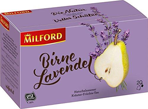 6x Milford – Birne-Lavendel, naturbelassener Kräuter-Früchte-Tee