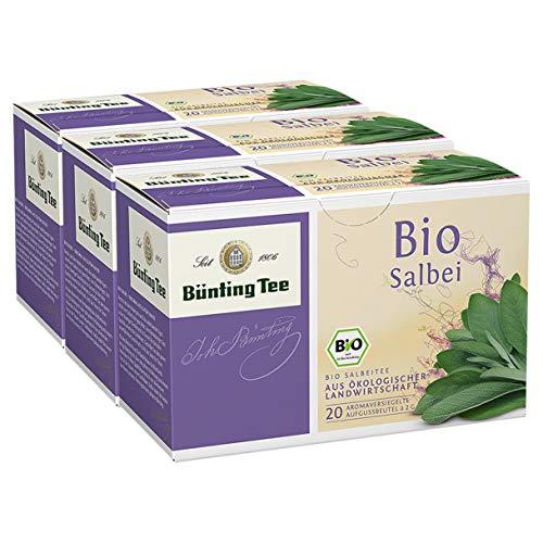 Bünting Tee Bio Salbei, 20 Tassenbeutel, 3er Pack